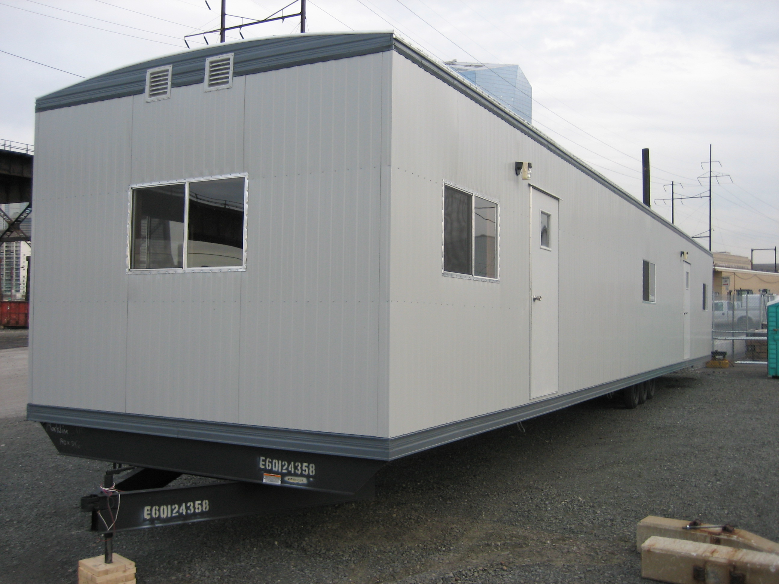 Portable Building Trailers : Office trailer anchor modular
