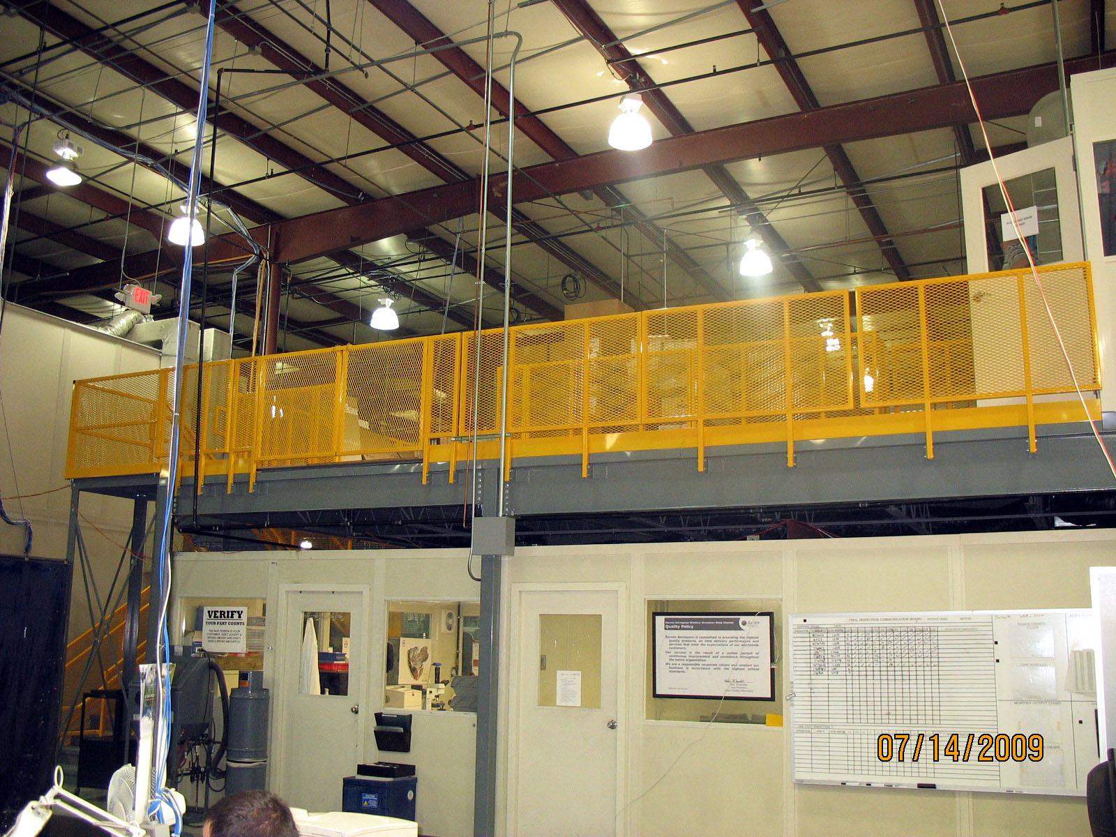 warehouse mezzanine modular office. Mezzanine Over Office Warehouse Modular